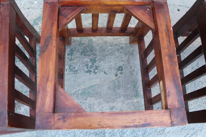 Antigüedades: 4 SILLAS EN MADERA - Foto 8 - 56246280