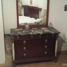 Antigüedades: PRECIOSO DORMITORIO COMPLETO COLUMNAS DE MARMOL. Lote 56251946