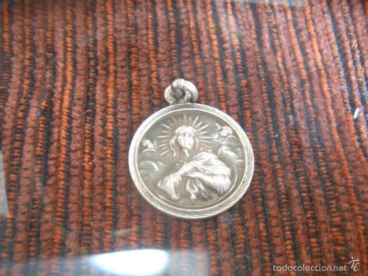 Antigüedades: MEDALLA DE PLATA,CON VIRGEN.MADRE FIEL. - Foto 3 - 56257172