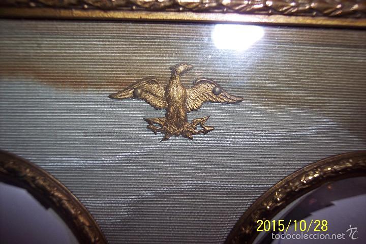 Antigüedades: ORIGINAL, IMPERIO, EN BRONCE, SEDA Y CUERO MARCO PORTA FOTOS - Foto 5 - 56258593