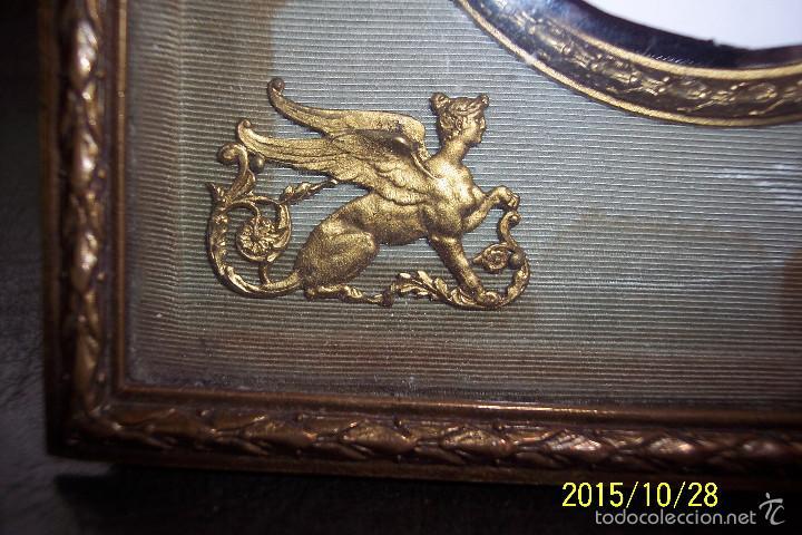 Antigüedades: ORIGINAL, IMPERIO, EN BRONCE, SEDA Y CUERO MARCO PORTA FOTOS - Foto 6 - 56258593