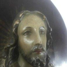 Antigüedades: SAGRADO CORAZON EN ESTUCO. Lote 56260551