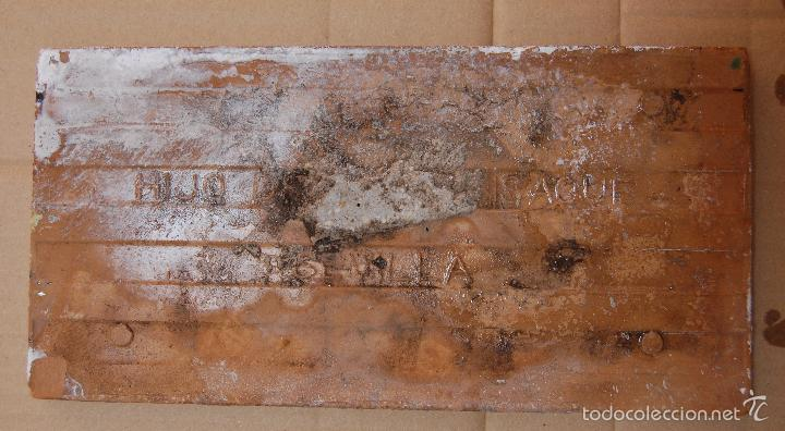 Antigüedades: AZULEJO ANTIGUO HIJO DE J. MENSAQUE TRIANA SEVILLA - Foto 2 - 56272681