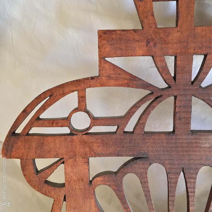 Antigüedades: REVISTERO PARED EN MADERA ESTILO NEOGOTICO CRUZ IGLESIA - Foto 19 - 56274729