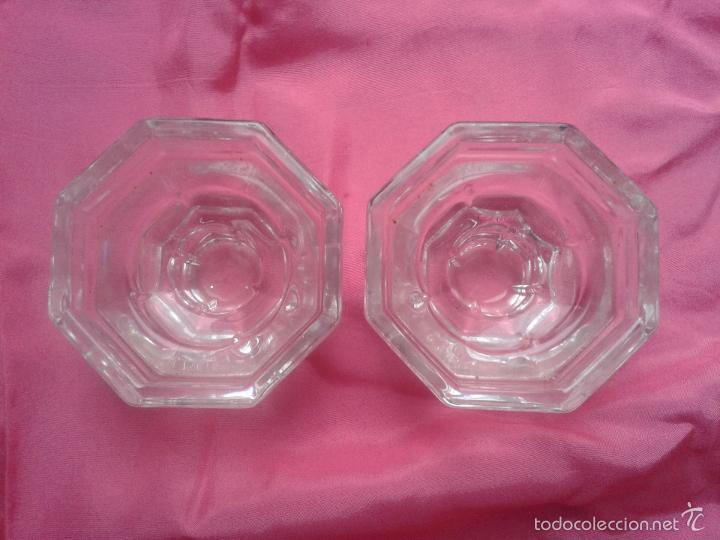 Antigüedades: Lote de 2 Portavelas de Cristal. - Foto 4 - 56277043