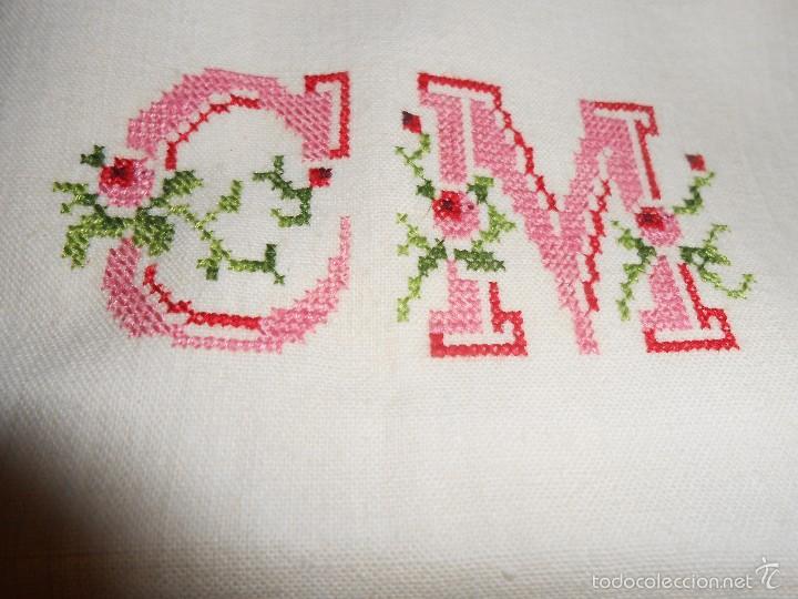S bana encimera y fundas almohada bordadas a m comprar s banas antiguas en todocoleccion - Encimeras cruz ...