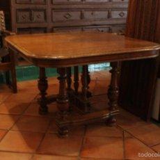 Antigüedades: MESA DE ROBLE DEL XIX. Lote 56281383