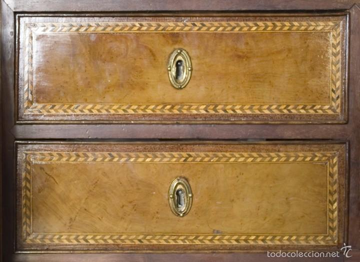 Antigüedades: Buró Carlos IV madera de caoba - Foto 4 - 56283177
