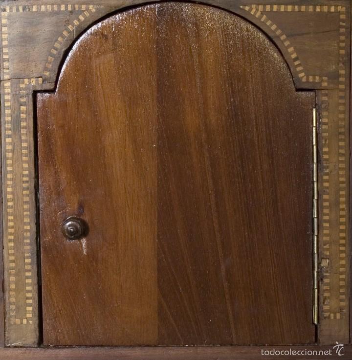 Antigüedades: Buró Carlos IV madera de caoba - Foto 5 - 56283177