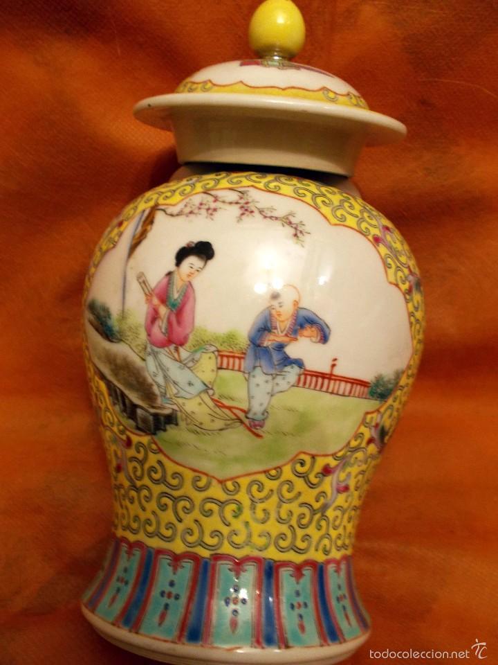 PIEZA MUY HERMOSA DE PORCELANA CHINA, DEL SIGLO XIX (Antigüedades - Porcelanas y Cerámicas - China)
