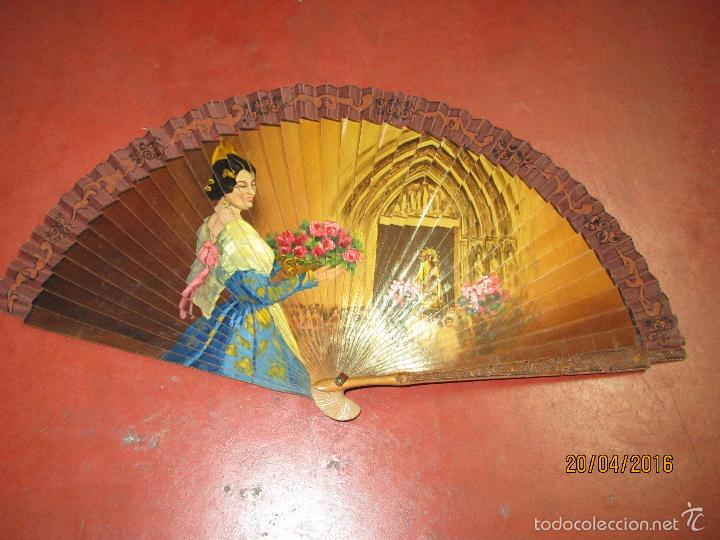 Antigüedades: Antiguo Lote de 36 Abanicos en Materiales Nobles Pintados a Mano - Foto 10 - 56285634