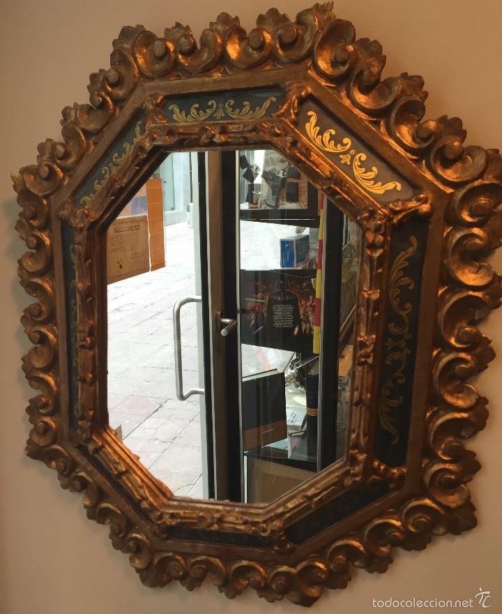 Espejo antiguo estilo frances tallado en madera comprar - Espejo veneciano antiguo ...