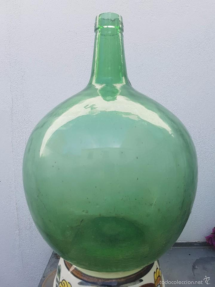 Garrafa Cristal Verdoso 16 Litros Viresa Antigu Comprar Objetos - Vidrio-decoracion