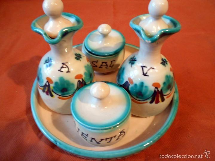 ANTIGUO BONITO Y COMPLETO CONJUNTO CERÁMICO (Antigüedades - Porcelanas y Cerámicas - Otras)
