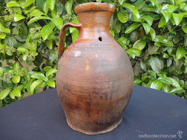 ALFARERÍA CASTELLANA: MEDIDA PARA VINO DE TAJUECO (Antigüedades - Porcelanas y Cerámicas - Otras)