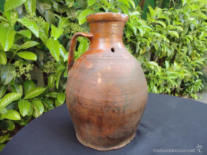 Antigüedades: Alfarería castellana: Medida para vino de Tajueco - Foto 8 - 56313329