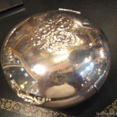 Antigüedades: JOYERO REDONDO EN `PLATA DE LEY. Lote 56314526