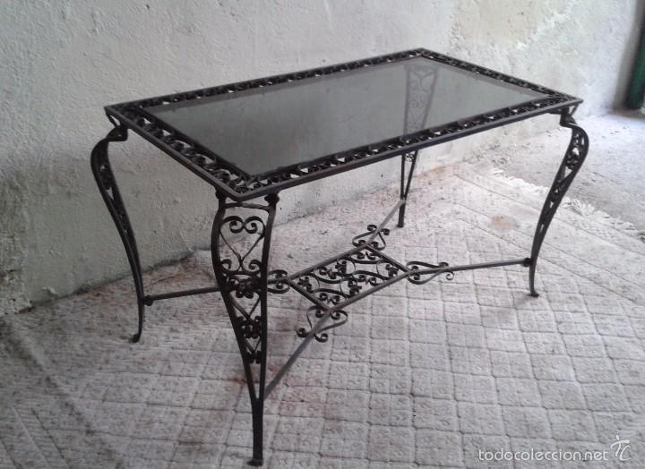Mesa antigua hierro forjado mesa de centro sal comprar - Mesas auxiliares antiguas ...