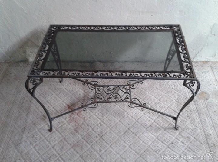 Mesa antigua hierro forjado estilo luis xv mes comprar for Mesas de centro antiguas