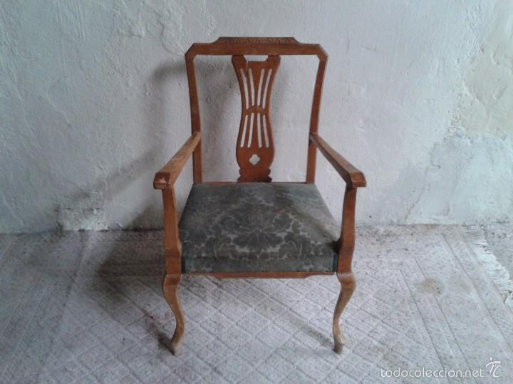 silln descalzador antiguo silla modernista antigua vintage butaca retro antigedades muebles antiguos