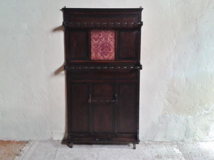 Antiguo mueble de entrada perchero parag ero r comprar for Mueble perchero entrada