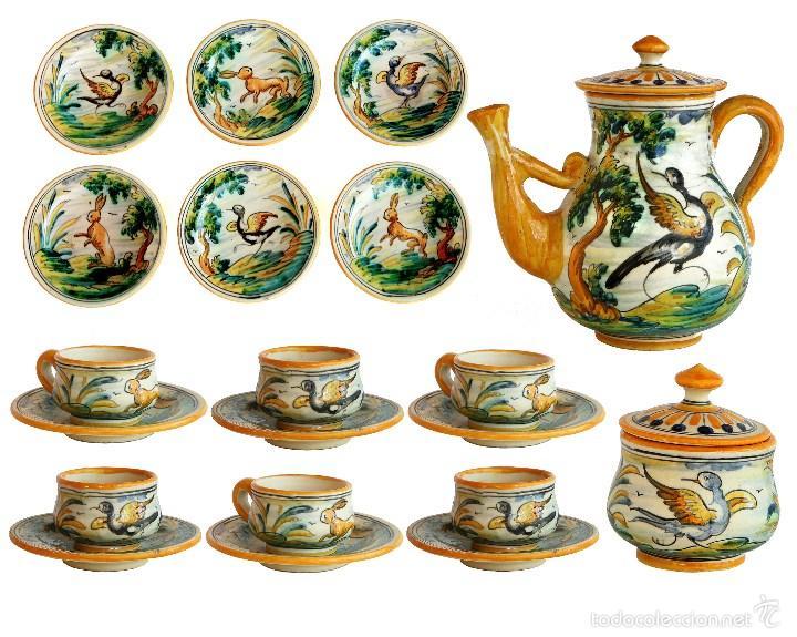 Talavera antiguo juego de cafe de 15 piezas d comprar - Juego para hacer ceramica ...