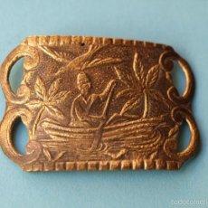 Antigüedades: ANTIGUA HEBILLA METÁLICA. Lote 56364487