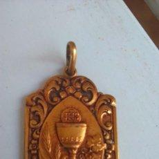 Antigüedades - Preciosa medalla para 1ª Comunión - 56365305
