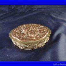 Antigüedades: CAJA JOYERO MODERNISTA DE BRONCE Y COBRE. Lote 56369402
