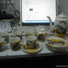 Antigüedades: JUEGO CAFE O TE PORCELANA ORIENTAL SEGURAMENTE JAPON. Lote 56371383