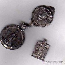 Antigüedades: LOTE DE 3 MEDALLAS ANTIGUAS DEL ESCORIAL MADRID. NUESTRA SEÑORA DE LA CONSOLACIÓN Y SAN LORENZO.. Lote 56382062