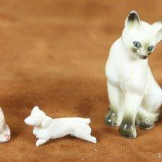 Antigüedades: SET DE 4 FIGURAS ESMALTADAS DE ANIMALES. SIGLO XX. . Lote 56382088