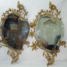 Antigüedades: PAR DE CORNUCOPIAS EN BRONCE. S. XIX.. Lote 56390799