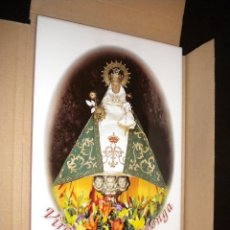 Antigüedades: AZULEJO VIRGEN DE COVADONGA PATRONA DE ASTURIAS / LA VOZ DE ASTURIAS. Lote 96149552