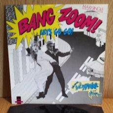 Discos de vinilo: BANG ZOOM. LETS GO GO ! MAXI SINGLE-PROMO / COOLTEMPO - 1986 / CALIDAD LUJO- ****/****. Lote 56425571