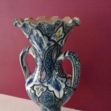 Antigüedades: ANTIGUO JARRON JARRA DE CERAMICA DE MADRASA SAFI - SELLADA EN LA BASE - 33 CM. Lote 56447209