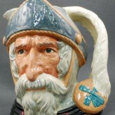 Antigüedades: TOBY JUG JARRA PORCELANA ROYAL DOULTON DON QUIJOTE SELLO BASE 1956 . Lote 56459585