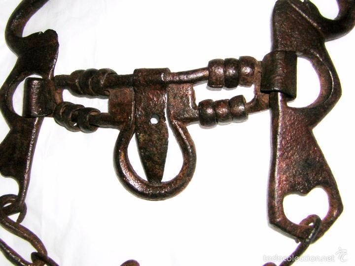 Antigüedades: BOCADO PARA CABALLO, ANTIGUO COMPLETO DEL, S XVIII, TODO ORIGINAL DE LA EPOCA - Foto 2 - 56462898