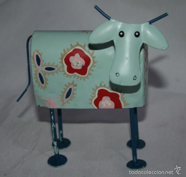 bonita figura antigua de una vaca verde de chap - Comprar Utensilios ...