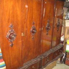 Antigüedades: ARMARIO DE DESPACHO CON REPISAS Y CAJONES GRANDE 4 CUERPOS ALTURA 170 ANCHO 185 FONDO 50 CM.. Lote 56465740
