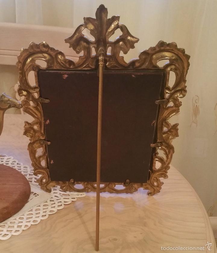 Antigüedades: antiguo y precioso marco de bronce con cristal, límpido y protegido con barniz de metales - Foto 3 - 119740243