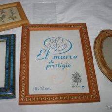 Antigüedades: LOTE DE 4 BONITOS MARCOS CON CRISTAL PARA FOTOGRAFIAS, FOTOS. Lote 56470456