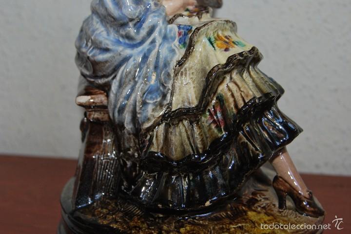 Antigüedades: FIGURA DE CERÁMICA DE VALENCIA DE ANTONIO PEYRÓ - GITANA FLAMENCA - VALENCIANA CON PERICÓN - AÑOS 20 - Foto 8 - 56488071