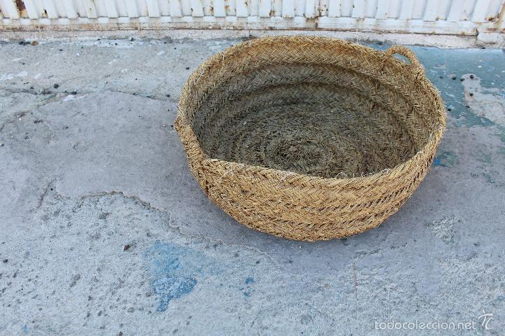 Antigüedades: CAPAZO ANTIGUO DE ESPARTO - Foto 3 - 125434838