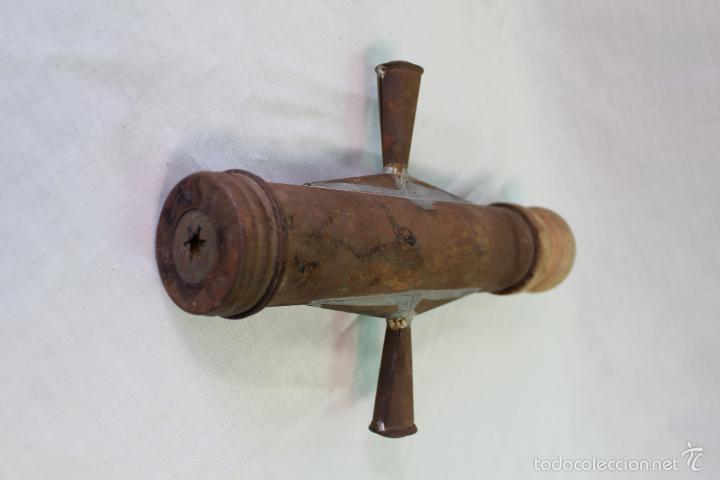 Antigüedades: CHURRERA MANUAL antigua CON ALIMAENTADOR DE MADERA - Foto 4 - 56496916