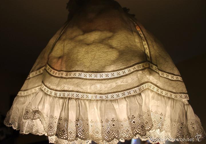 Antigüedades: VESTIDO DE CRISTIANAR PARA NIÑA EN ALGODÓN - FINALES SIGLO XIX - Foto 14 - 56507524