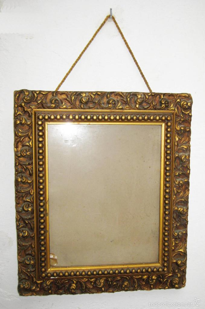 marco madera antiguo dorado ideal espejo , port - Comprar Marcos ...