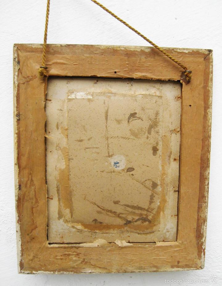 antigedades marco madera antiguo dorado ideal espejo portafotos pinturas oleo o fotos
