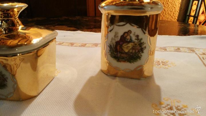 Antigüedades: JUEGO DE TOCADOR DE PORCELANA VINTAGE - Foto 2 - 56516932