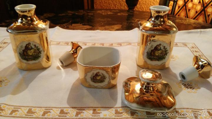 Antigüedades: JUEGO DE TOCADOR DE PORCELANA VINTAGE - Foto 5 - 56516932